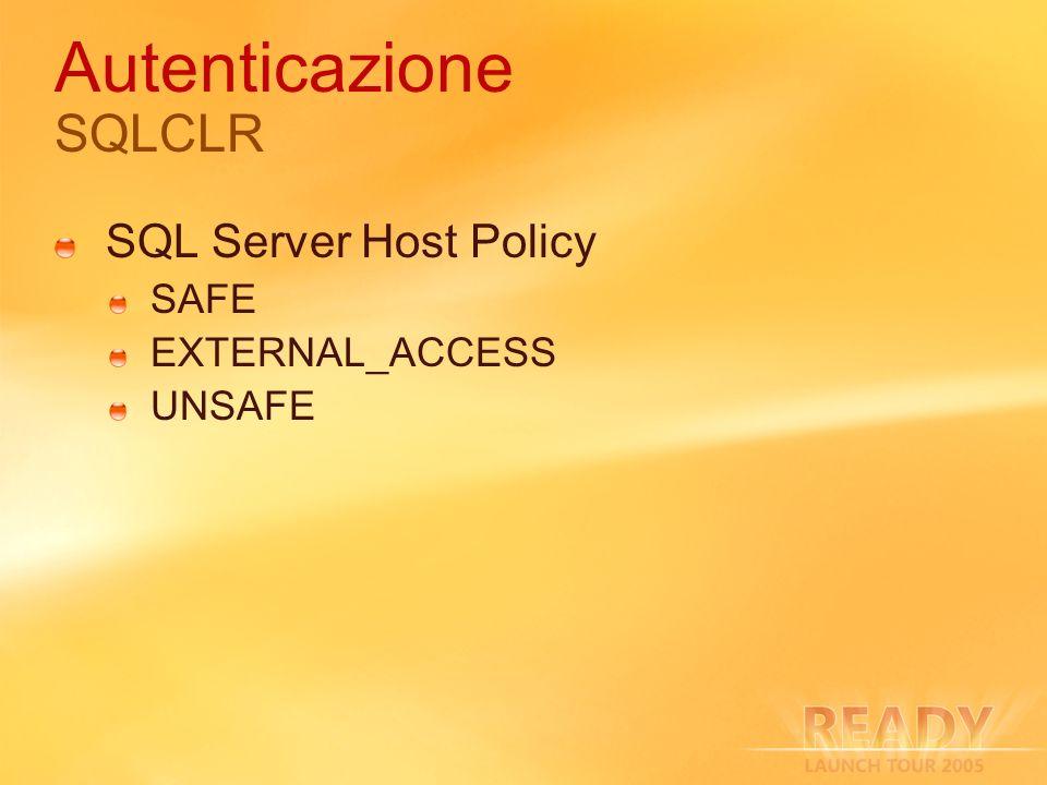 Autenticazione SQLCLR