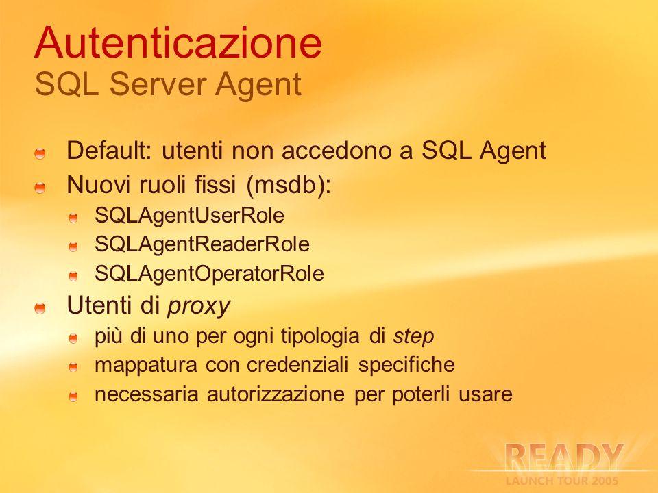 Autenticazione SQL Server Agent