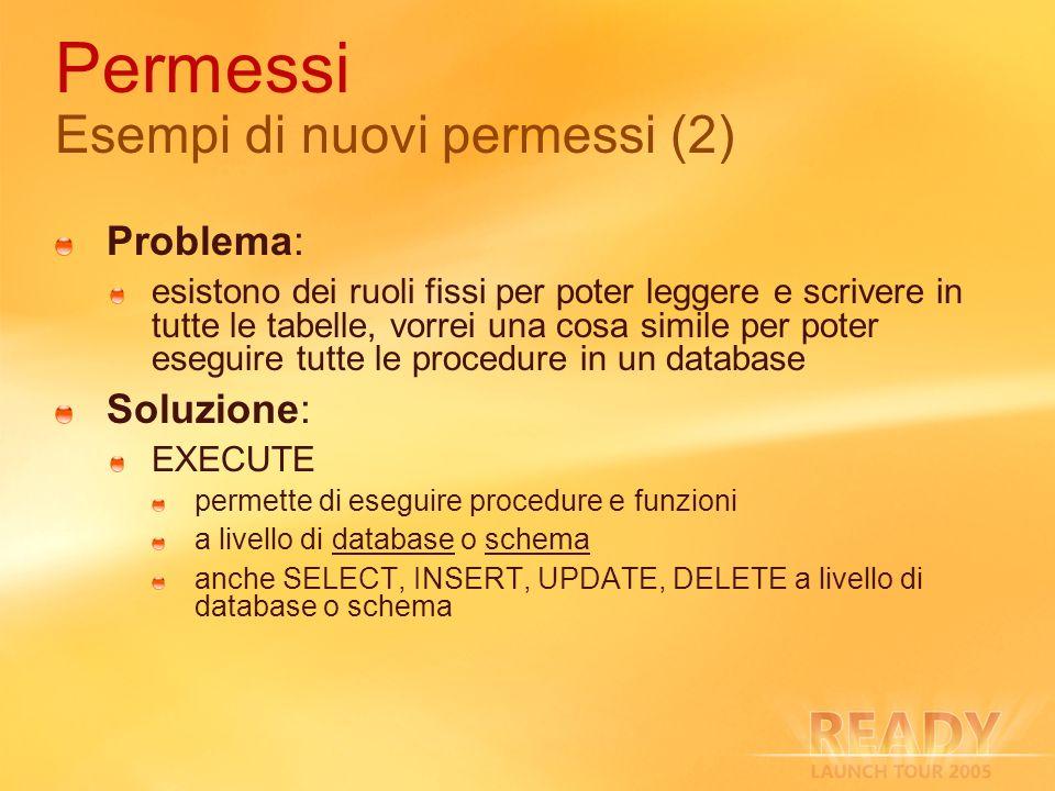 Permessi Esempi di nuovi permessi (2)
