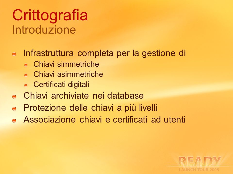Crittografia Introduzione