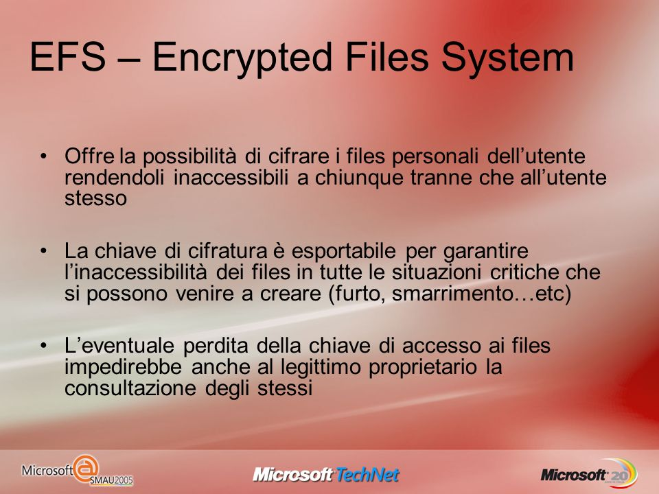 EFS – Encrypted Files System