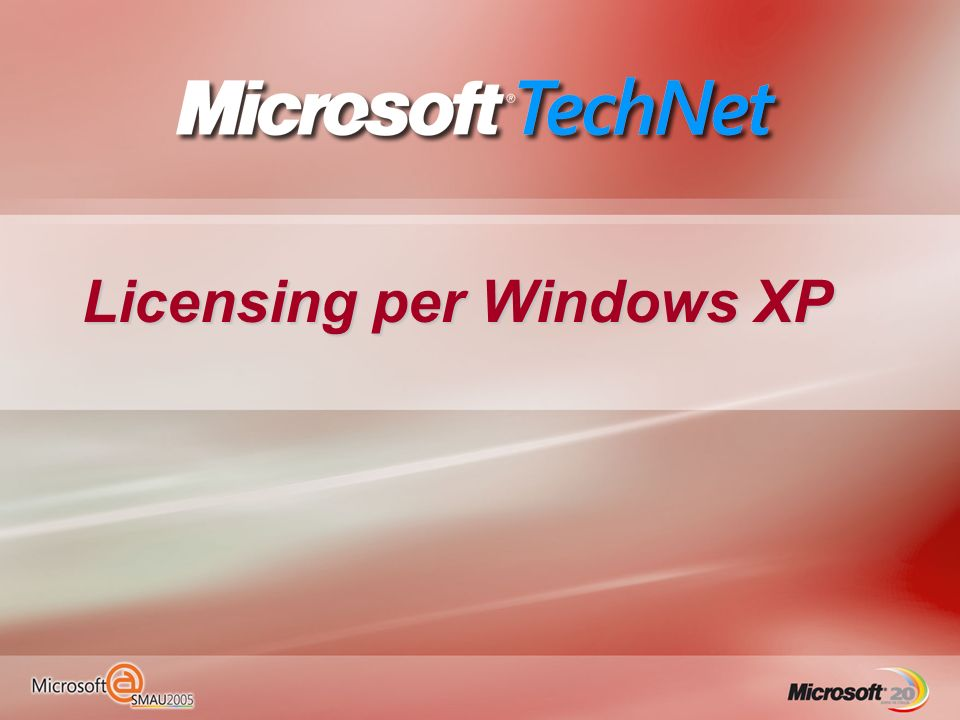 Licensing per Windows XP