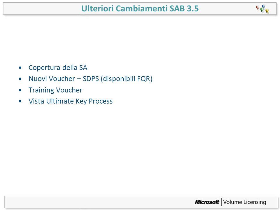 Ulteriori Cambiamenti SAB 3.5