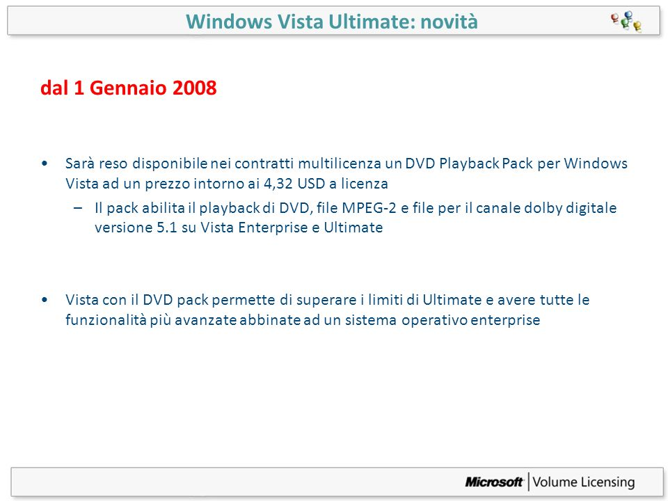 Windows Vista Ultimate: novità