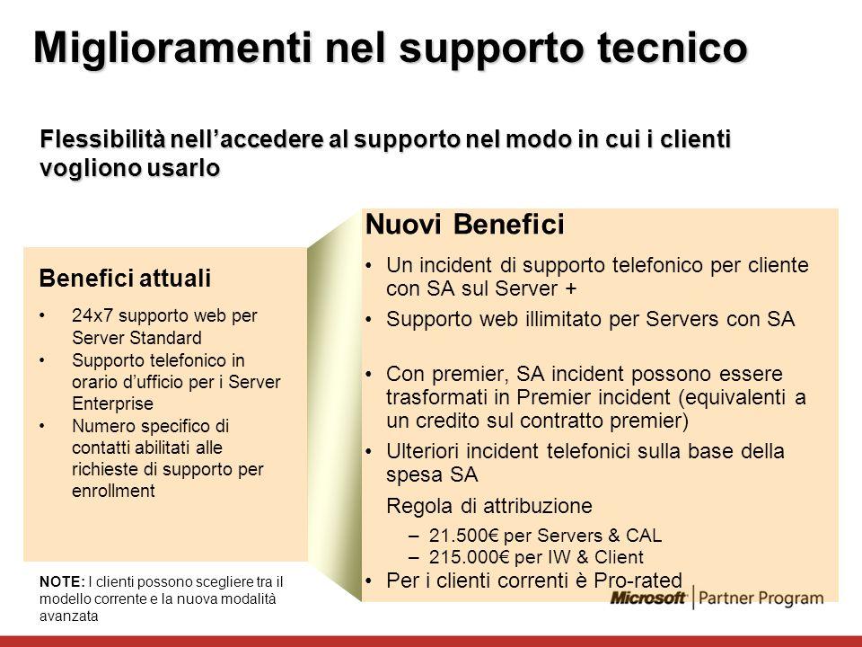 Miglioramenti nel supporto tecnico