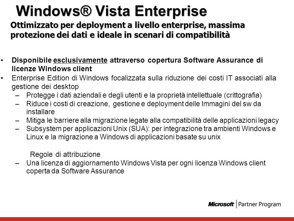 Windows® Vista Enterprise