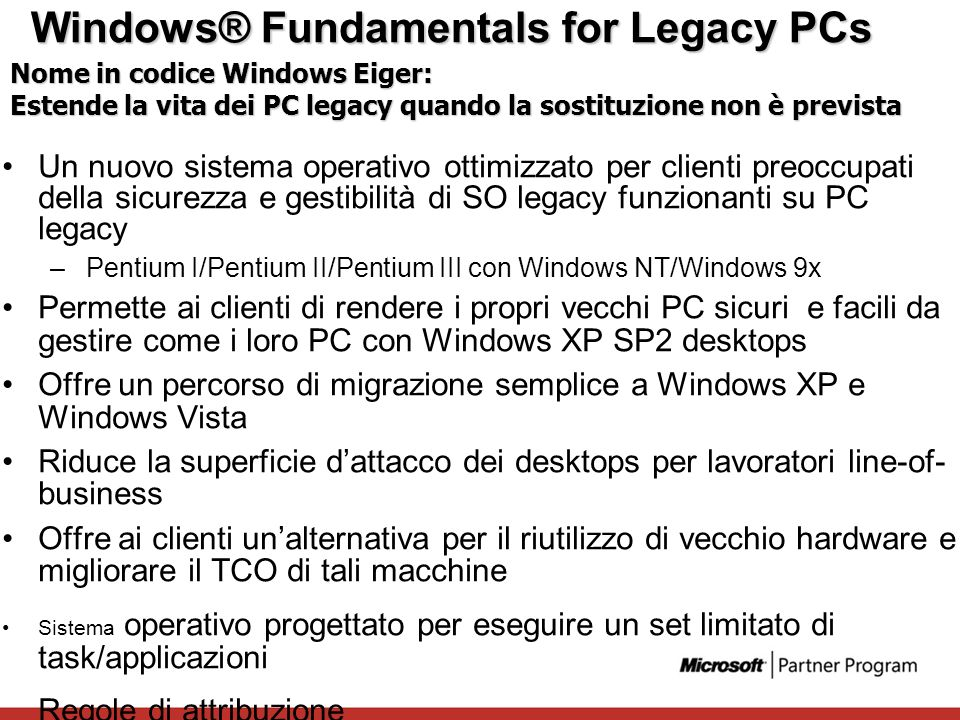 Windows® Fundamentals for Legacy PCs