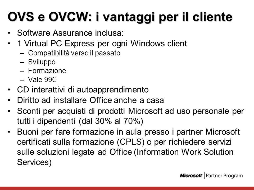OVS e OVCW: i vantaggi per il cliente
