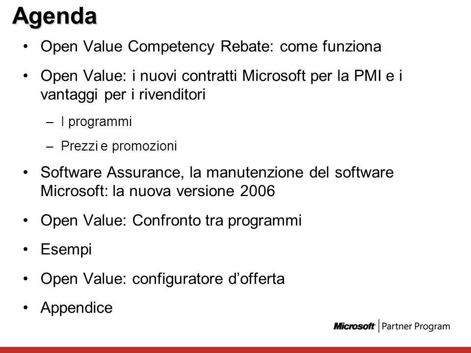 Agenda Open Value Competency Rebate: come funziona