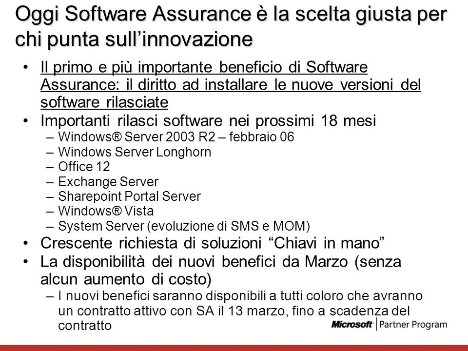 Oggi Software Assurance è la scelta giusta per chi punta sull'innovazione