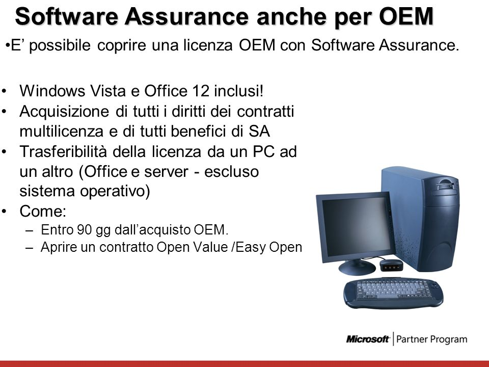 Software Assurance anche per OEM