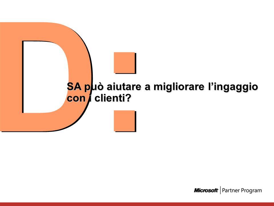 D: SA può aiutare a migliorare l'ingaggio con i clienti