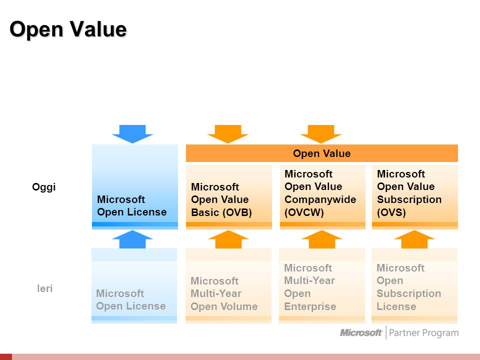 Open Value Microsoft Open License Microsoft Open Value Basic (OVB)