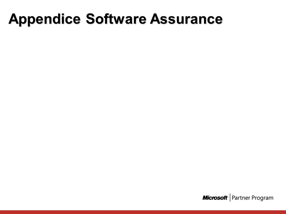 Appendice Software Assurance