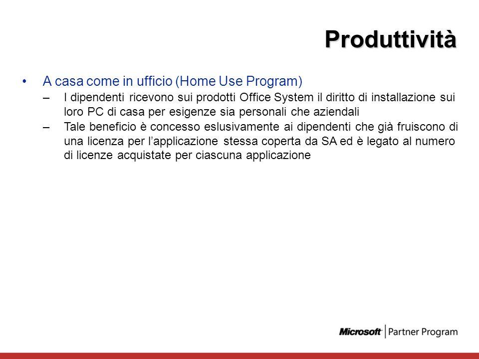 Produttività A casa come in ufficio (Home Use Program)