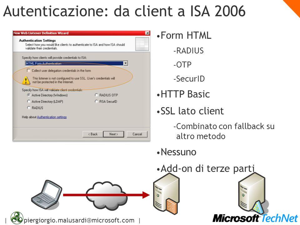 Autenticazione: da client a ISA 2006