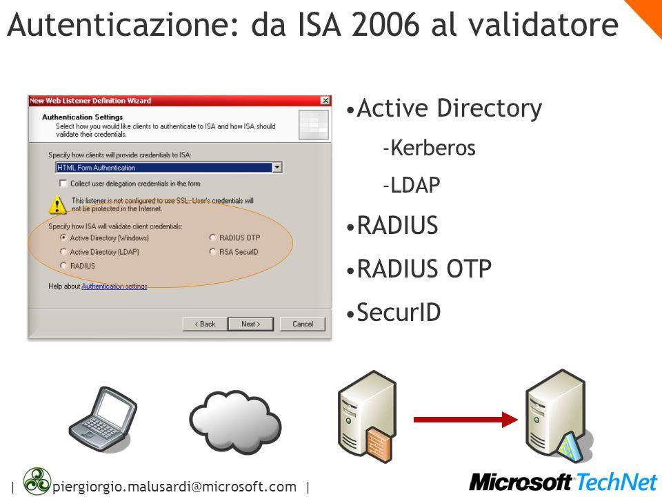 Autenticazione: da ISA 2006 al validatore