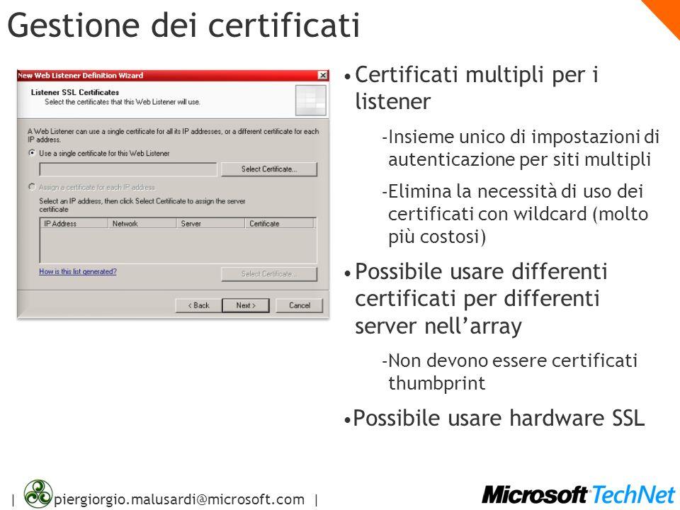 Gestione dei certificati