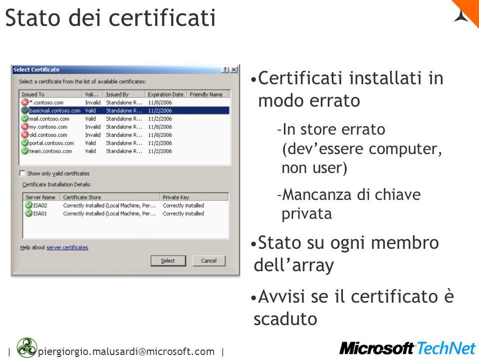 Stato dei certificati 