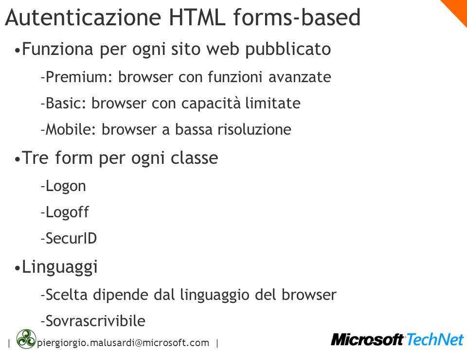 Autenticazione HTML forms-based