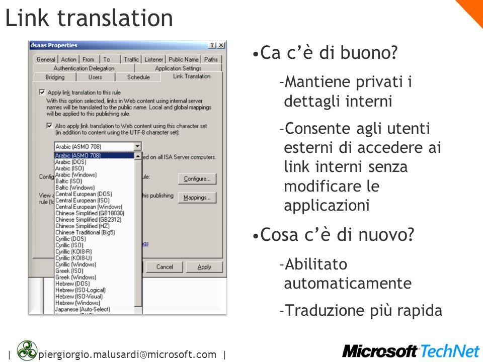 Link translation Ca c'è di buono Cosa c'è di nuovo