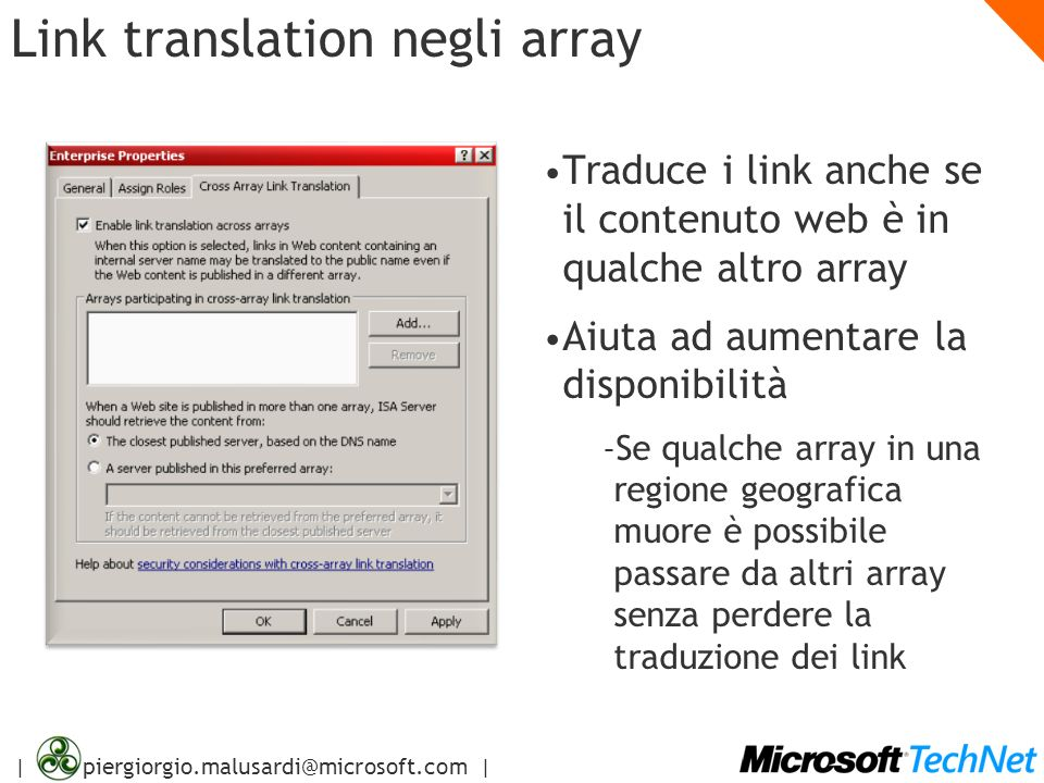 Link translation negli array