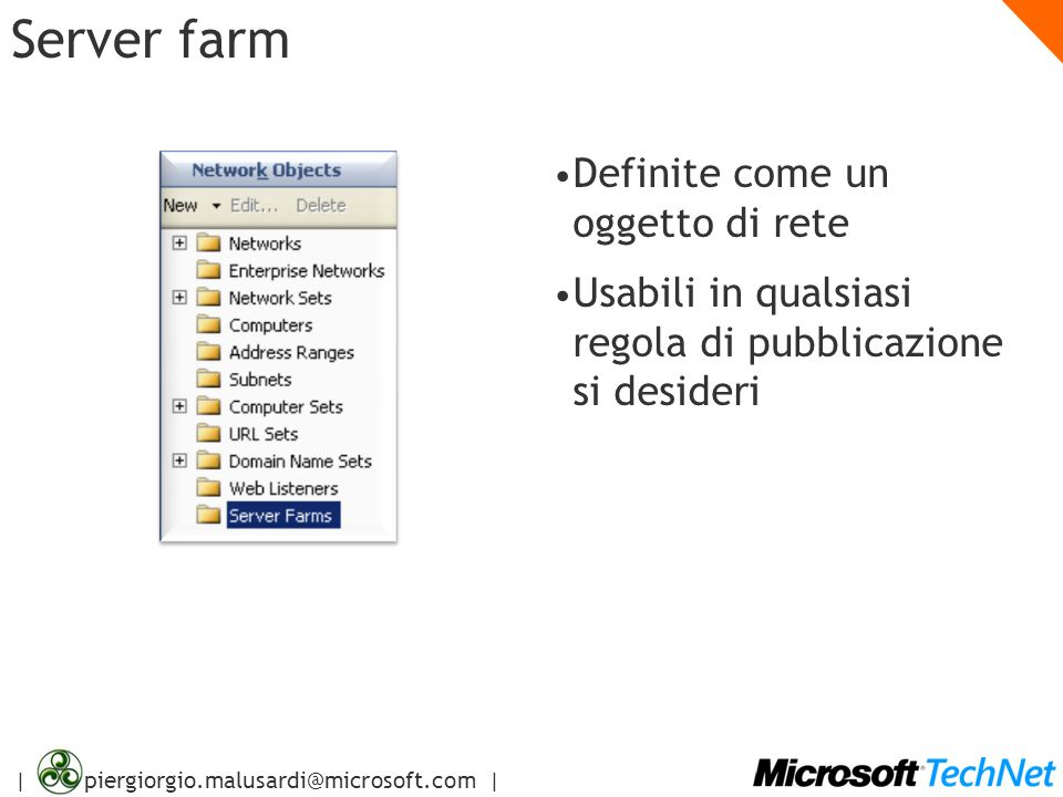 Server farm Definite come un oggetto di rete