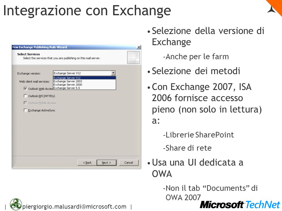 Integrazione con Exchange 
