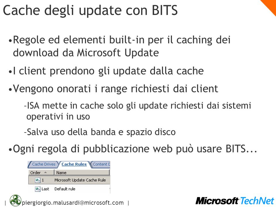 Cache degli update con BITS