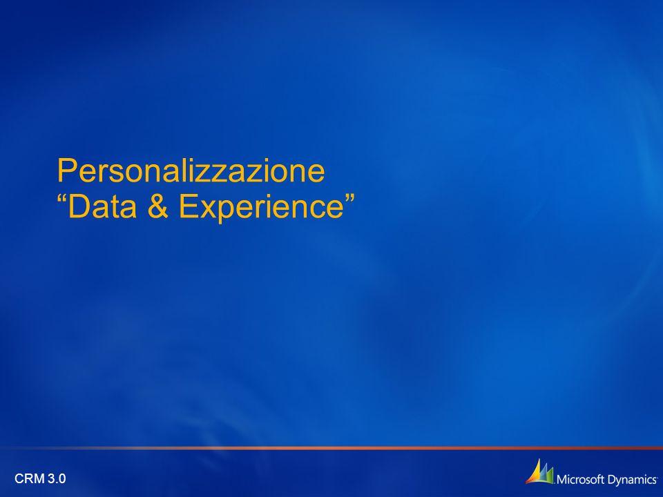 Personalizzazione Data & Experience