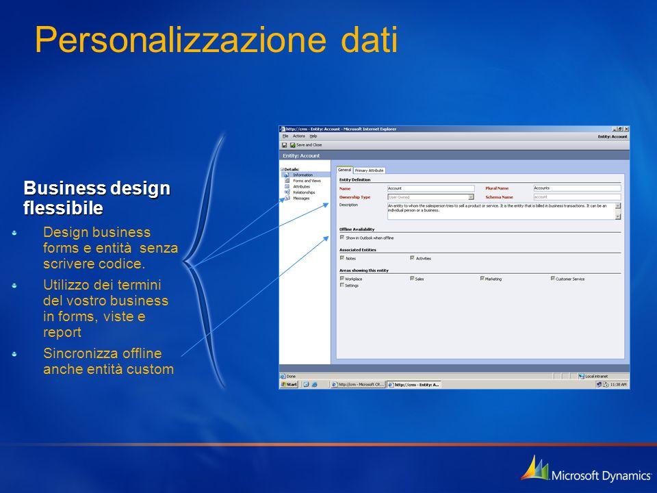 Personalizzazione dati