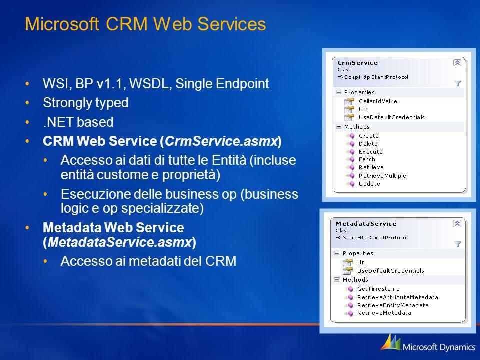 Microsoft CRM Web Services