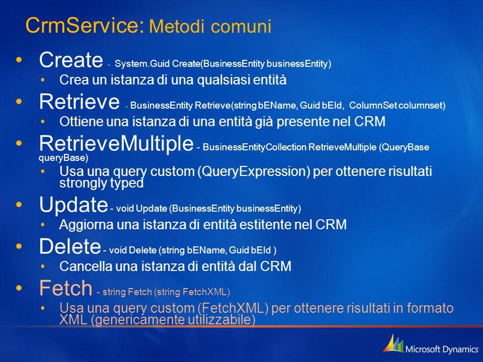 CrmService: Metodi comuni