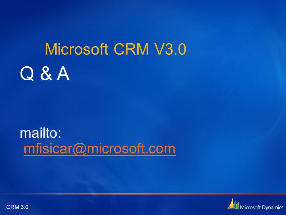 Q & A mailto: mfisicar@microsoft.com