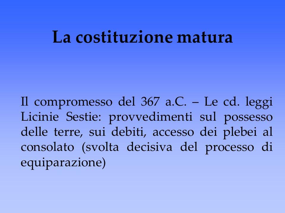 La costituzione matura