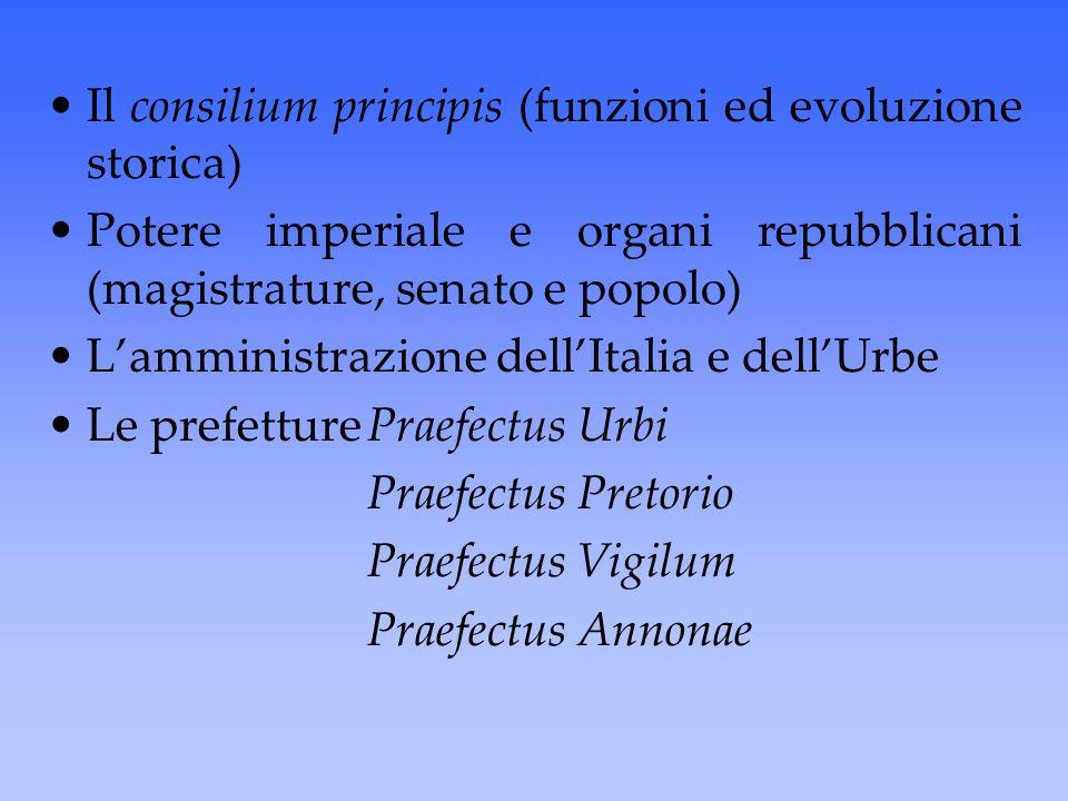 Il consilium principis (funzioni ed evoluzione storica)