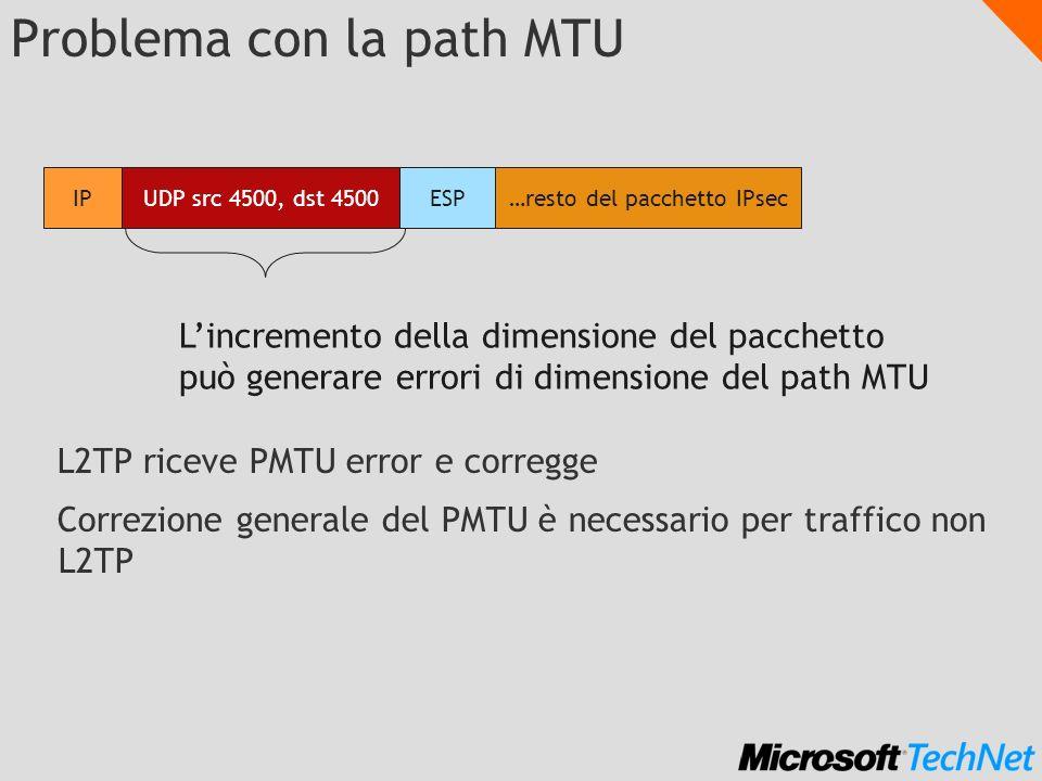 Problema con la path MTU