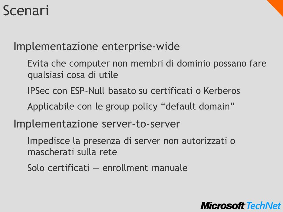 Scenari Implementazione enterprise-wide