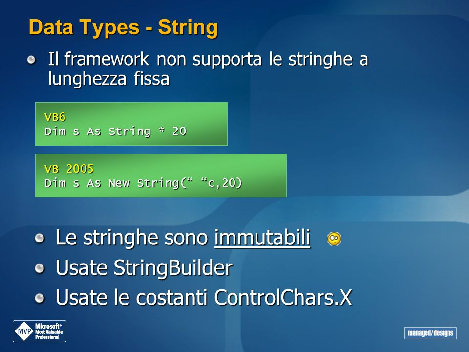 Le stringhe sono immutabili Usate StringBuilder
