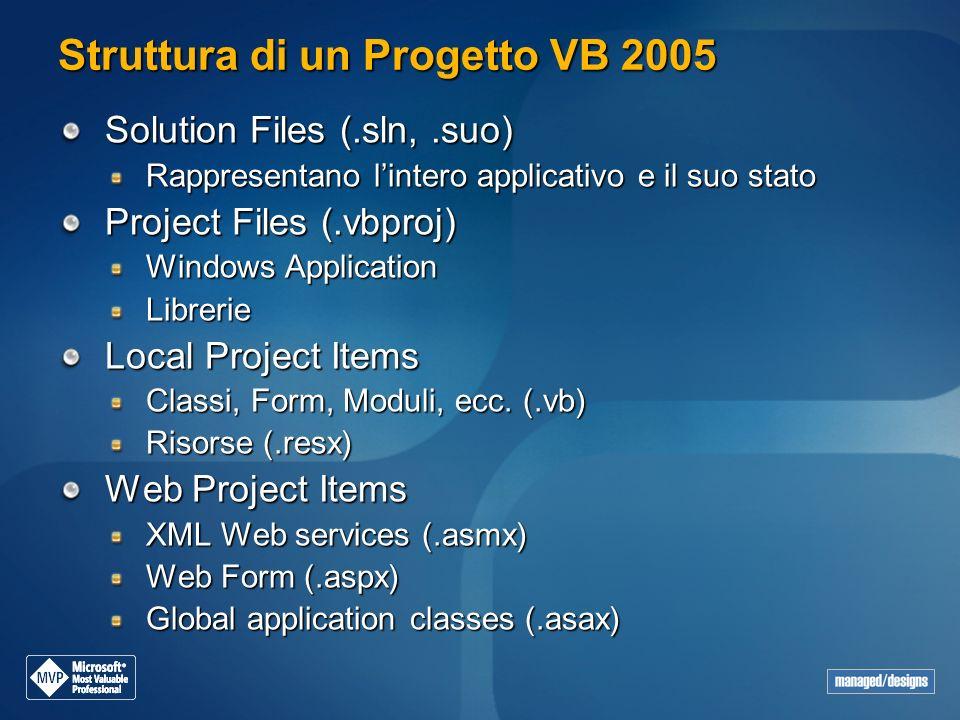Struttura di un Progetto VB 2005