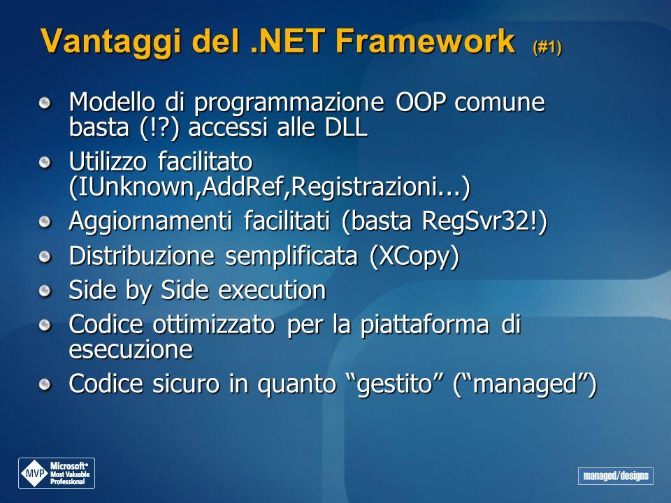 Vantaggi del .NET Framework (#1)