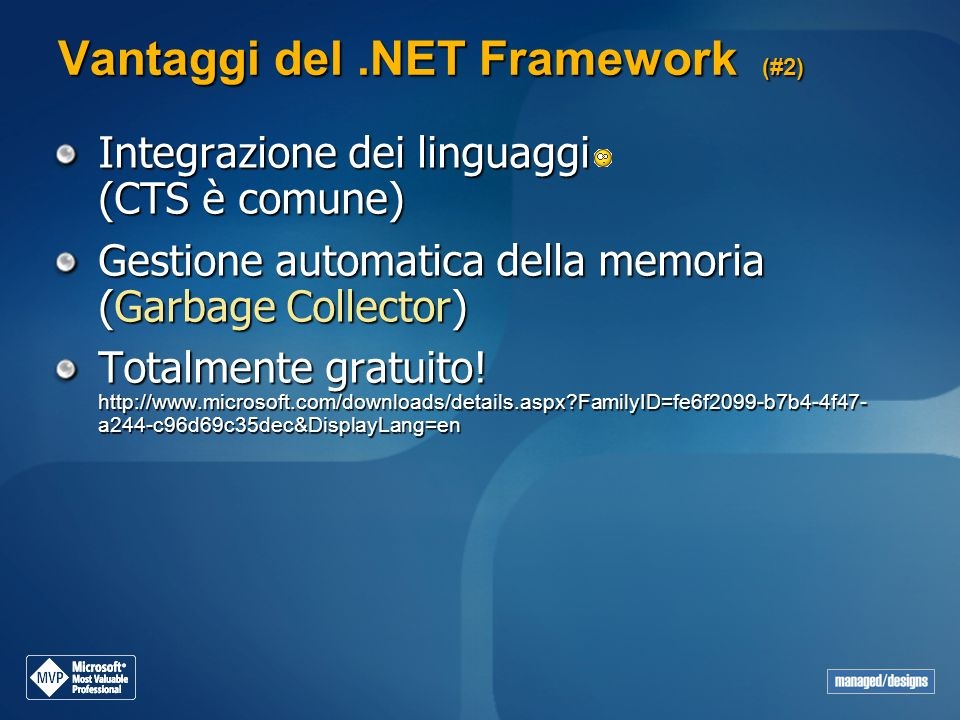 Vantaggi del .NET Framework (#2)