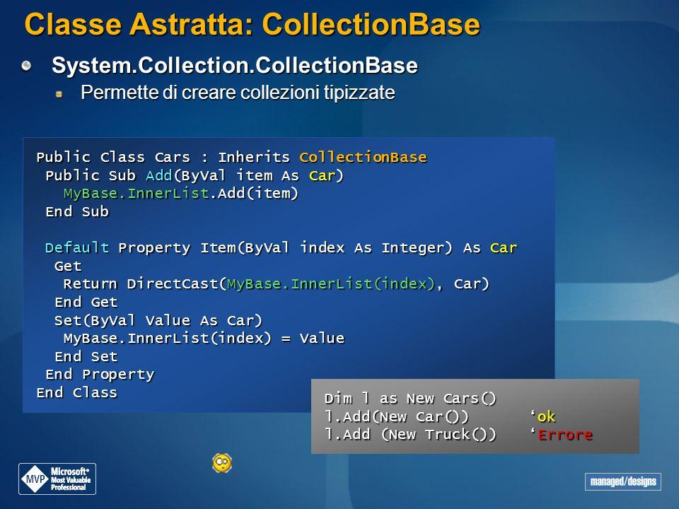 Classe Astratta: CollectionBase