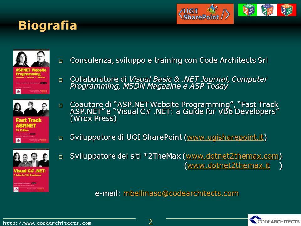 Biografia Consulenza, sviluppo e training con Code Architects Srl