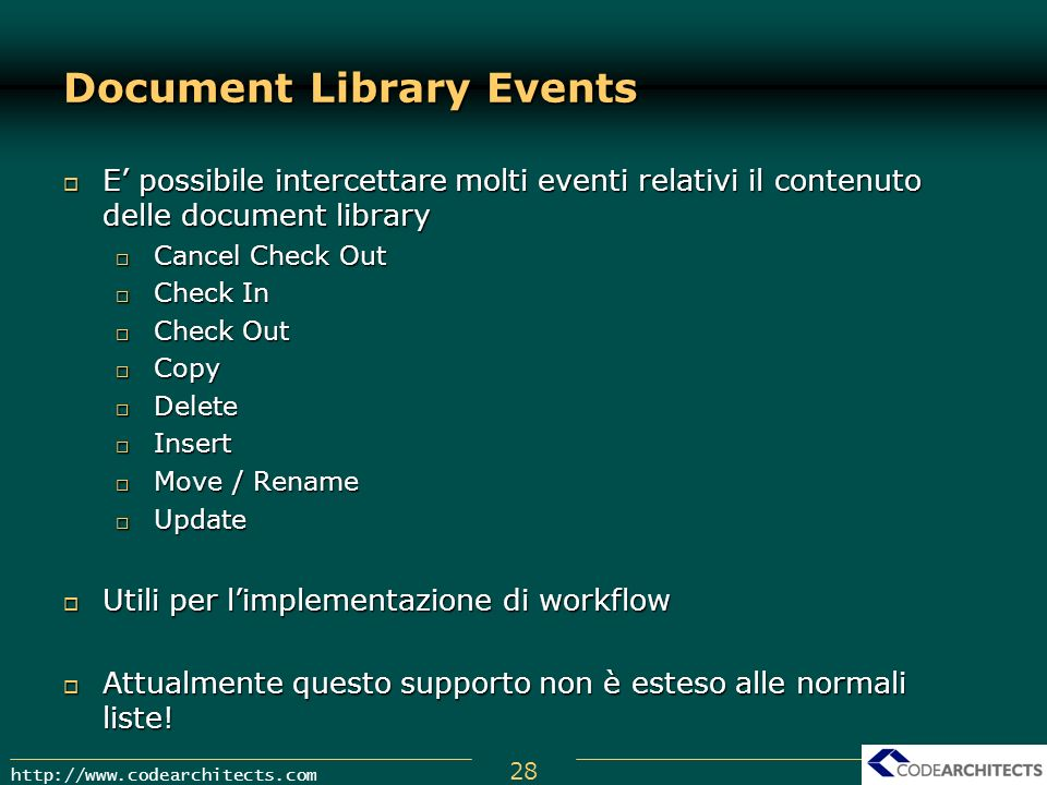 Document Library Events