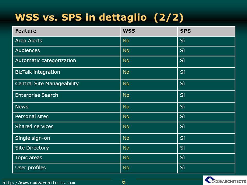 WSS vs. SPS in dettaglio (2/2)