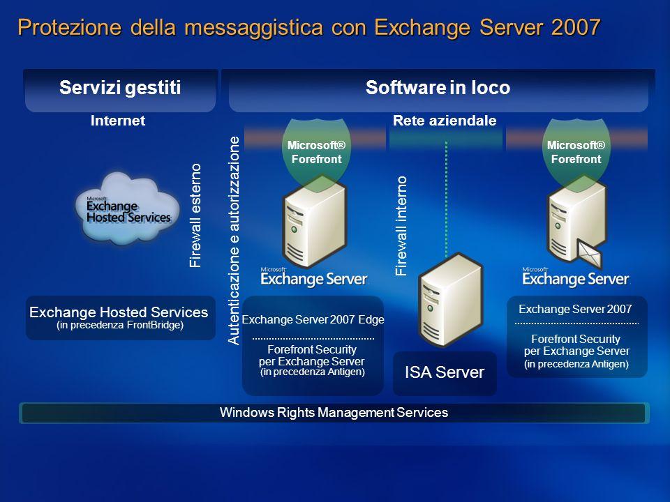 Protezione della messaggistica con Exchange Server 2007