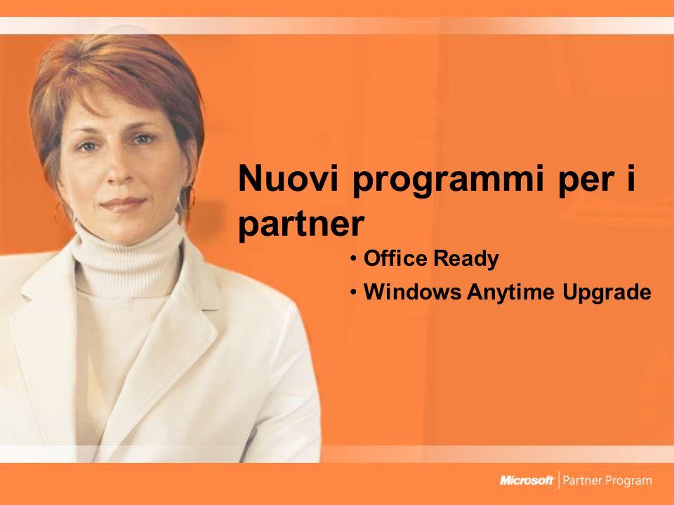 Nuovi programmi per i partner