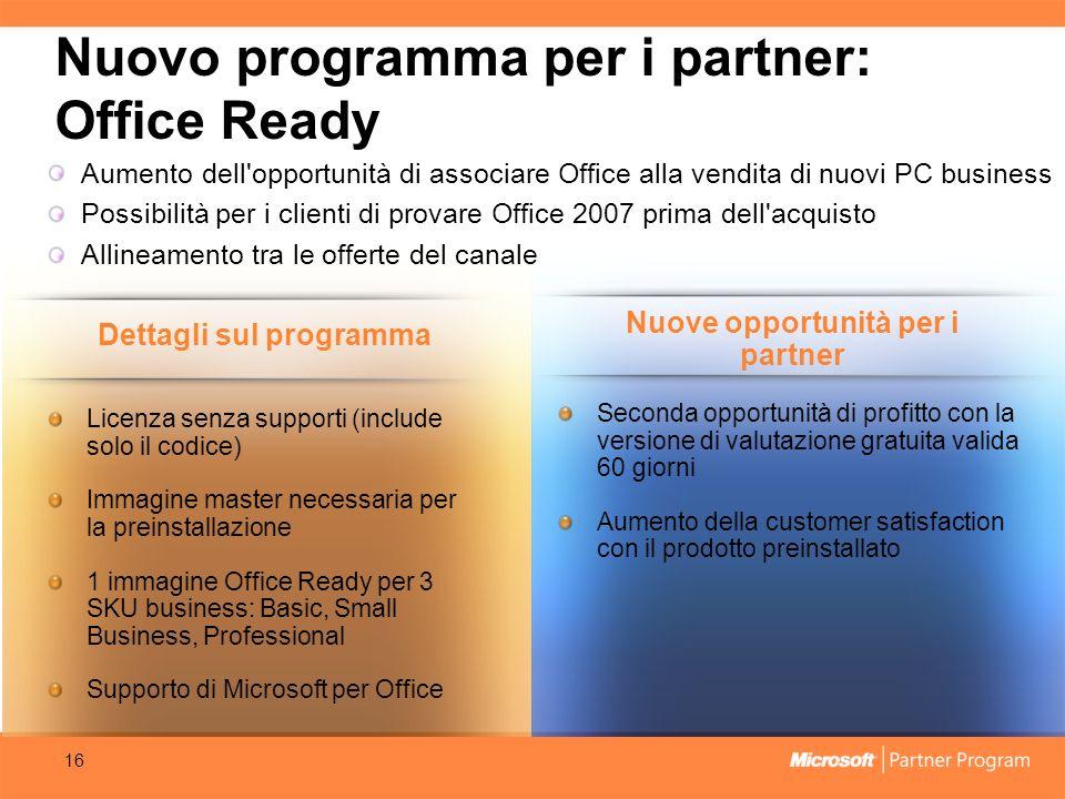 Nuovo programma per i partner: Office Ready