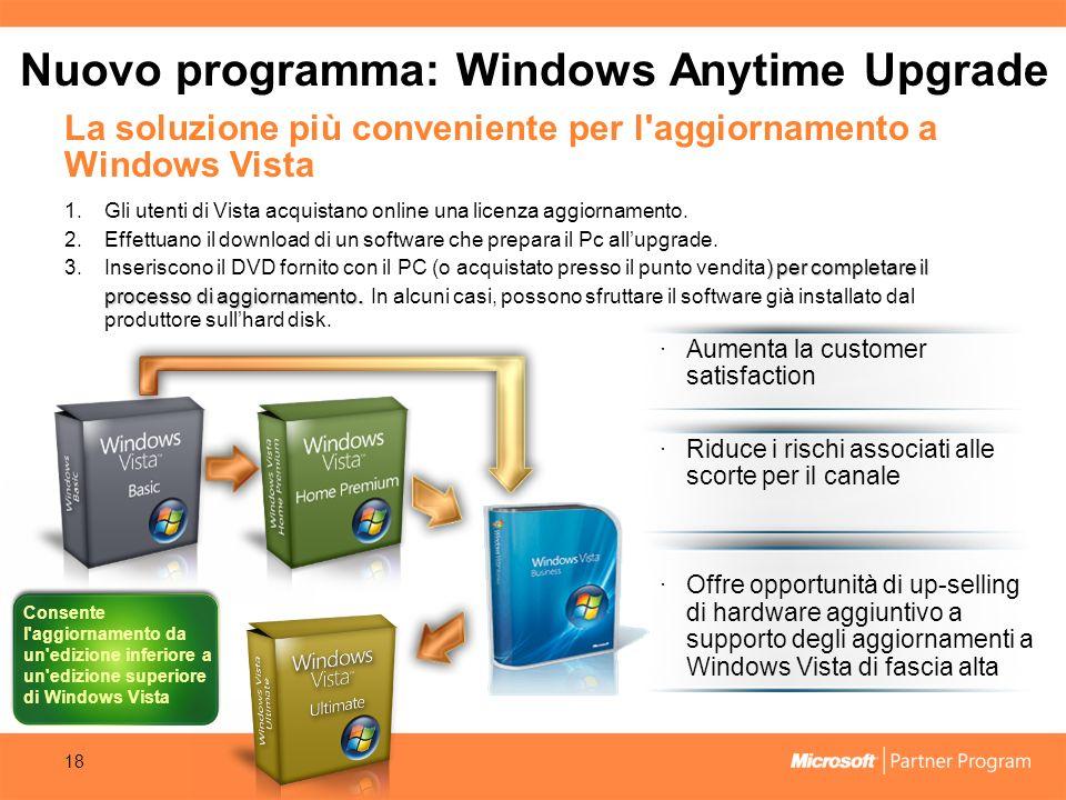 Nuovo programma: Windows Anytime Upgrade